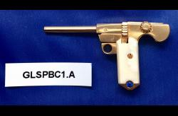 C-93 BORCHARDT 2mm Pinfire Gold-Plated Pistol w/Gem-PFGUSA