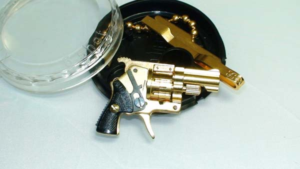 SOLD-24K Gold Plated Xythos Pinfire Gun Round Case-GXRP1, Pinfire
