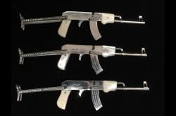 AK-47 ParaTrooper Polished Steel 2mm Pinfire Rifle - PFGUSA
