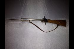 Franz Pfannl 2mm Berloque Rifle with Bayonet and Mahogany Stock